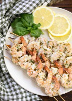 Grilled Lemon and Herb Shrimp