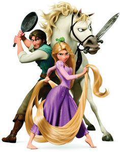 Photo of Flynn and Rapunzel :) for fans of Tangled.