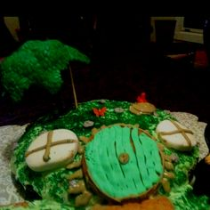 A hobbit hole cake I made for Mama's birthday a few years ago.