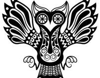 """the finnish """"Sielulintu"""" (soul birds) have similarities with the mexican """"Nahual"""", they appear in your dreams and they protect … Finnish Tattoo, Scandinavian Folk Art, Alphabet Coloring Pages, Sugar Skull Tattoos, Native American Crafts, Owl Art, Diy Home Crafts, Animal Tattoos, Bird Feathers"""