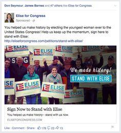 Elise Stefanik post-election day Facebook ad