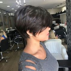 Icy Short Pixie Cut - 60 Cute Short Pixie Haircuts – Femininity and Practicality - The Trending Hairstyle Short Hairstyles For Thick Hair, Short Pixie Haircuts, Short Hair With Layers, Short Hair Cuts, Bob Hairstyles, Curly Hair Styles, Layered Hairstyles, Teenage Hairstyles, Hair Short Bobs