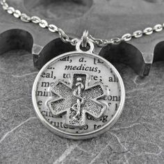 Paramedic EMT Medical Definition Necklace - Defining the Life of a Paramedic by COGnitive Creations Ems Humor, Firefighter Emt, Emergency Medical Services, Emergency Medicine, Medical Field, The Life, Dog Tag Necklace, Paramedic Quotes