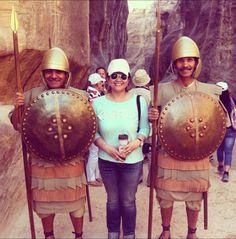 Nabatean Guards in Petra, Jordan