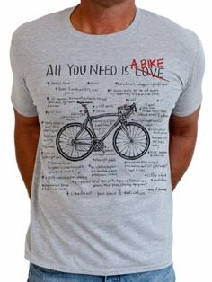 bf4c3e932 Cycology t-shirt  All You Need Is A Bike - CyclingLifestyle.nl - Casual  fietskleding en wielercadeaus