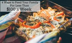 I only spend $50 a week buying groceries for my family of Four by sticking to these meal plans! If you want to know how to spend less than $100 a week on food for your family, you need to read this post!