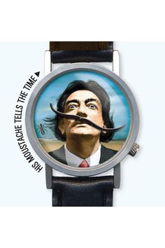 Dali watch - tells time with its mustache. I'm sure Mr Dali would approve. Moustaches, Salvador Dali Art, Jack Threads, Take My Money, Bracelet Cuir, Telling Time, Urban Outfitters, Geek Stuff, Jewels