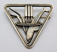 Georg Jensen Sterling Brooch Pin number 257 by MusthaveSilver
