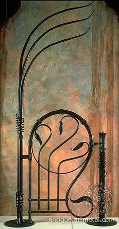 Style Garden Gate Gorgeous Art Nouveau Garden Gate (but it would be even more gorgeous if it was in a garden)!Gorgeous Art Nouveau Garden Gate (but it would be even more gorgeous if it was in a garden)! Art Nouveau, Jugendstil Design, Wrought Iron Gates, Iron Art, Garden Gates, Yard Art, Architecture, Blacksmithing, Metal Art