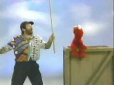 Classic Sesame Street - Robin Williams gives Elmo a stick
