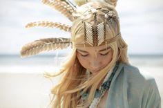 Memory Lane. feather headdress ''Bohemian Like You''