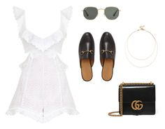 """Untitled #378"" by simpleluxury ❤ liked on Polyvore featuring Gucci, Zimmermann, Ray-Ban and Sole Society"