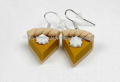Handmade #fimo/polymer clay pumpkin pie #earrings boxed #ideal gift, View more on the LINK: http://www.zeppy.io/product/gb/2/112157633126/