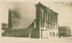 County Bank Fire Feb 1924 Charlevoix Mi Past, Michigan, Fire, Painting, Past Tense, Painting Art, Paintings, Painted Canvas, Drawings