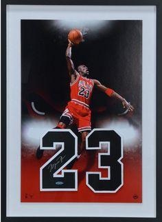 Michael Jordan Chicago Bulls Framed Signed 20