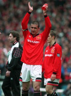 Eric Cantona after the 1996 FA Cup final