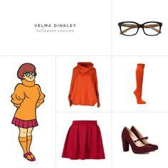 Velma Scooby Doo halloween costume collage