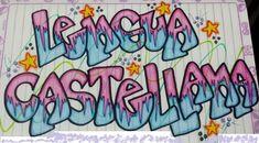 4º CURSO DE EDUCACIÓN PRIMARIA : PORTADA CUADERNO DE LENGUA Notebook Covers, Fire And Ice, Gabriel, Back To School, Bullet Journal, Calligraphy, Cartoon, Lettering, Drawings