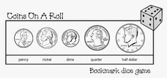 FREE! Coins on a Roll Dice Game (adapt by having students collect coins as they roll)