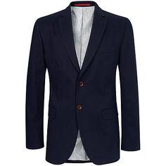 Buy Crew Clothing Ashton Blazer, Navy Online at johnlewis.com