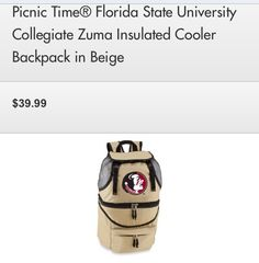 Cooler backpack for beach and hikes