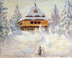Villa of Vilniemi by Sigurd Wettenhovi-Aspa (Sigurd Wetterhoff-Asp) Historical Pictures, Villa, Artists, House Styles, Home Decor, Decoration Home, Room Decor, Home Interior Design, Fork