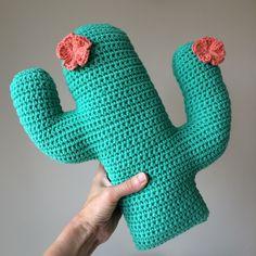 Flower Cactus Cushion Crochet Pattern