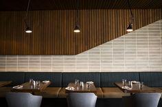 Gallery of Wembley Golf Course / Gresley Abas Architects - 14 Restaurant Design, Restaurant Bar, Golf Bar, Golf Hotel, Concrete Design, Concrete Blocks, Commercial Design, Golf Courses, Architects