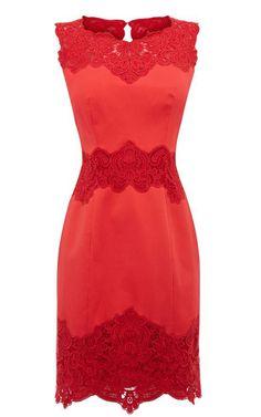 es un hermoso vestido rojo con es encaje hermoso..
