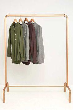 Gold Rail Clothes Rack