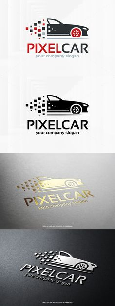 Pixel Car Logo Template