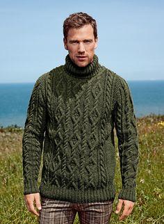 Ravelry: #10 Roll-Neck Sweater - Pull Col Roulé pattern by Bergère de France