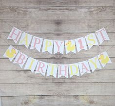 Nautical Happy Birthday Banner Custom Double Panel Party Supplies Card Stock New