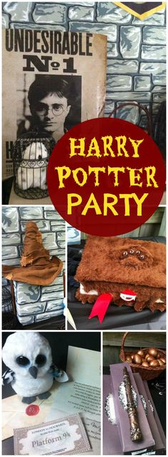 Any Harry Potter fan would love this fun birthday party! See more party ideas at CatchMyParty.com!