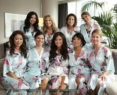 CD1 bridesmaid robes,best bridesmaid gifts kimono robe satin robes wedding clothes for women Not silk robe Not set of 9