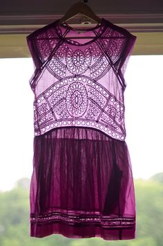 Bohemian purple shirt simple but the pattern so lovely, great with long skirt or jeans.