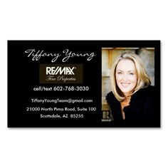 Real Estate Photo with Assistant on back of card! Business Card Templates