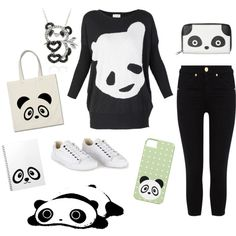 """Simple panda outfit"" by mandyfloss on Polyvore"