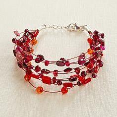 Pretty red beaded bracelet
