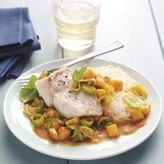 Curry-vispannetje met mango #SnelKlaar #WeightWatchers #WWrecept