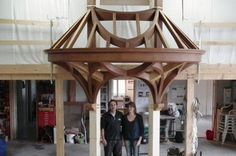 Shed Extension Ideas, House Awnings, Gazebo, Pergola, Carpentry And Joinery, Framing Construction, Timber Beams, Timber Structure, Curved Wood