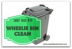 Wheelie bin clean - a daily task from organisemyhouse.com