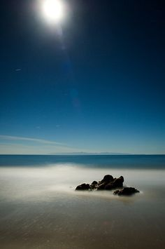 Wonderful moonlight on the beach