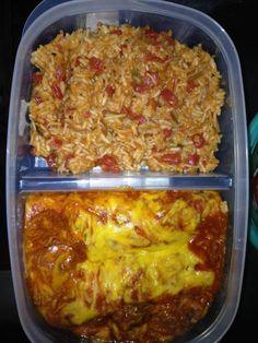 Homemade enchilada tv dinners