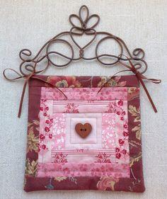 Mini Heart Wall Quilt
