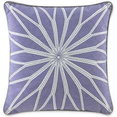 Happy Chic by Jonathan Adler Chloe 18inch Square Starburst Decorative Pillow, Purple