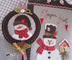 Taller Navidad Joyeux Noël.Panel y cuadrito Muñeco de nieve.