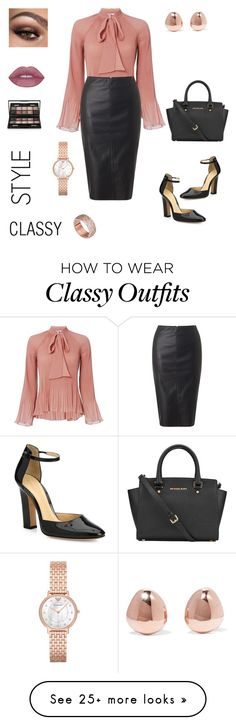 """""""classy & chic"""" by dalba77 on Polyvore featuring 10 Crosby Derek Lam, Miss Selfridge, Gianvito Rossi, MICHAEL Michael Kors, Emporio Armani, Monica Vinader, FOSSIL and By Terry"""