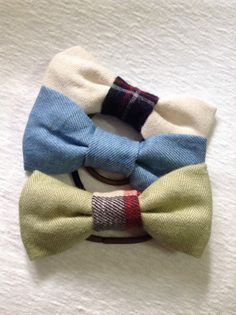 Set of three hair bows,Light blue,Brushed light green & white hair bows,Novelty fabric used,For Autumn and Winter fashion,Holiday gifts #luxury #hair #ribbon #hairbows #hairstyle #gift #ideas #plaid #diy