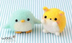 Penguin & Hamster Needle Felting Kit di WooliMochi su Etsy, scovato by Blogghidee.com